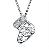 Недорогие Новогодние украшения-Жен. Прочее Ожерелья с подвесками Циркон Позолота Ожерелья с подвесками , Рождество