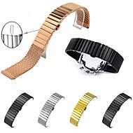 Недорогие Часы для Samsung-Ремешок для часов для Gear S3 Frontier Gear S3 Classic Gear S3 Classic LTE Fitbit Alta HR Samsung Galaxy Бабочка Пряжка Нержавеющая сталь