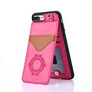 Недорогие Кейсы для iPhone 8 Plus-Кейс для Назначение Apple iPhone X iPhone 8 Бумажник для карт со стендом С узором Кейс на заднюю панель Кружева Печать Твердый Настоящая