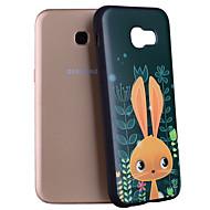 Недорогие Чехлы и кейсы для Galaxy A7(2017)-Кейс для Назначение SSamsung Galaxy A5(2017) A3(2017) С узором Кейс на заднюю панель Мультипликация Животное Мягкий Силикон для A3 (2017)