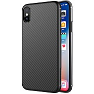 Case For Apple iPhone X iPhone 8 iPhone 8 Plus Ultra-thin Pattern Back Cover Lines / Waves Hard Carbon Fiber for iPhone X iPhone 8 Plus