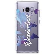 voordelige Galaxy S6 Edge Plus Hoesjes / covers-hoesje Voor Samsung Galaxy S8 Plus S8 Transparant Patroon Achterkantje Woord / tekst Zacht TPU voor S8 S8 Plus S7 edge S7 S6 edge plus S6