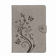 cheap -Case For iPad 10.5 iPad (2017) Flowers Card Holder Wallet with Stand Flip Magnetic Embossed Pattern Full Body Butterfly Flower Hard PU