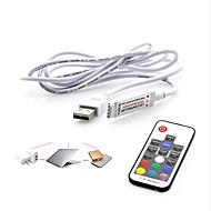 usb rf mini led vezérlő 17keys usb fény világos színes távirányító 5v