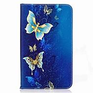 お買い得  タブレット用アクセサリー-ケース 用途 Samsung Galaxy フルボディーケース タブレットケース バタフライ ハード PUレザー のために Tab A 7.0 (2016)