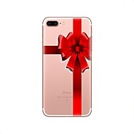Недорогие Кейсы для iPhone 8-Кейс для Назначение Apple iPhone X iPhone 8 Ультратонкий Полупрозрачный Кейс на заднюю панель Рождество Мягкий ТПУ для iPhone X iPhone 8