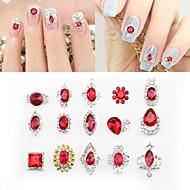 24 Decoración de uñas Las perlas de diamantes de imitación maquillaje cosmético Dise?o de manicura