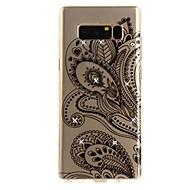 Недорогие Чехлы и кейсы для Galaxy Note 2-Кейс для Назначение Note 8 Стразы Ультратонкий Прозрачный С узором Задняя крышка Кружева Печать Мягкий TPU для Note 8 Note 5 Edge Note 5