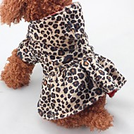 abordables Disfraces de Navidad para mascotas-Navidad Ropa para Perro Leopardo Leopardo Algodón Disfraz Para mascotas Una pieza Mantiene abrigado