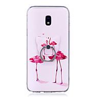 voordelige Galaxy J7(2016) Hoesjes / covers-hoesje Voor Samsung Galaxy J7 (2017) J3 (2017) Ringhouder Transparant Patroon Achterkantje Flamingo Zacht TPU voor J7 (2016) J7 (2017) J5