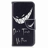 お買い得  携帯電話ケース-ケース 用途 V30 Q6 カードホルダー ウォレット スタンド付き フリップ 磁石バックル パターン フルボディーケース ワード/文章 ハード PUレザー のために LG V30 LG Q6