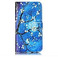 Недорогие Чехлы и кейсы для Galaxy J3(2016)-Кейс для Назначение SSamsung Galaxy J7 (2017) J3 (2017) Бумажник для карт Кошелек со стендом Флип С узором Чехол Цветы дерево Твердый
