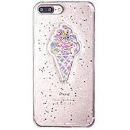 Кейс для Назначение iPhone X iPhone 8 Прозрачный С узором Задняя крышка Продукты питания Сияние и блеск Мягкий TPU для iPhone X iPhone 8