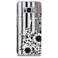 olcso Galaxy S tokok-Case Kompatibilitás Minta Hátlap Fa mintázat Virág Puha TPU mert S8 S8 Plus S7 edge S7 S6 edge plus S6 edge S6 S6 Active S5 Mini S5