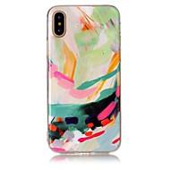 Кейс для Назначение Apple iPhone X iPhone 8 iPhone 8 Plus IMD С узором Задняя крышка Градиент цвета Мягкий TPU для iPhone X iPhone 8 Plus
