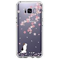 tanie Galaxy S5 Mini Etui / Pokrowce-Kılıf Na Samsung Galaxy S8 Plus S8 Ultra cienkie Przezroczyste Wzór Etui na tył Kot Kwiaty Miękkie TPU na S8 S8 Plus S7 edge S7 S6 edge