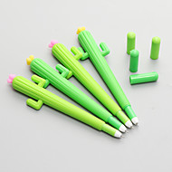 12 PCS Cactus Silicone Black Ink Gel Pen