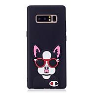 Недорогие Чехлы и кейсы для Galaxy Note 8-Кейс для Назначение SSamsung Galaxy Note 8 С узором Своими руками Кейс на заднюю панель С собакой 3D в мультяшном стиле Мягкий ТПУ для