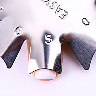 1 Nagel stempelen Afbeelding sjablionen platen stamper schraper