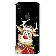 Недорогие Кейсы для iPhone 8-Кейс для Назначение iPhone X iPhone 8 Прозрачный С узором Задняя крышка Мультипликация Рождество Мягкий TPU для iPhone X iPhone 8 Pluss