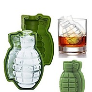 3d grenade ice cube mold maker bandeja de silicone great bar party military men gift