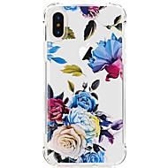 abordables Fundas para iPhone 8 Plus-Funda Para Apple iPhone X iPhone 8 iPhone 8 Plus Ultrafina Transparente Diseños Cubierta Trasera Flor Suave TPU para iPhone X iPhone 8