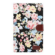 Case For Samsung Galaxy Tab A 8.0 (2017) Card Holder with Stand Flip Full Body Flower Hard Textile for Tab A 8.0 (2017)