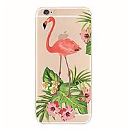 Недорогие Кейсы для iPhone 8 Plus-Назначение iPhone X iPhone 8 Чехлы панели Прозрачный С узором Задняя крышка Кейс для Фламинго Мягкий Термопластик для Apple iPhone X