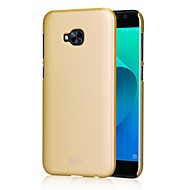 お買い得  携帯電話ケース-ケース 用途 Asus 超薄型 バックカバー 純色 ハード PC のために Asus Zenfone 4 Selfie ZD552KL Asus Zenfone 4 MAX ZC554KL