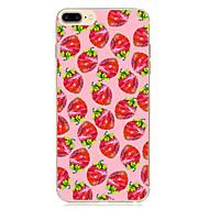 para la cubierta de la caja patrón ultra fino funda de la contraportada fruta blanda tpu para manzana iphone x iphone 8 más iphone 8