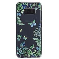billige Galaxy S5 Etuier-Etui Til Samsung Galaxy S8 Plus S8 Transparent Præget Mønster Bagcover Sommerfugl Blødt TPU for S8 S8 Plus S7 edge S7 S6 S5
