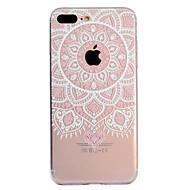Недорогие Кейсы для iPhone 8-Кейс для Назначение Apple iPhone X iPhone 8 Plus Прозрачный С узором Кейс на заднюю панель Мандала Мягкий ТПУ для iPhone X iPhone 8 Pluss