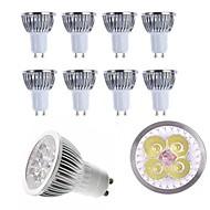 お買い得  LED スポットライト-10個 4W 400lm E14 GU10 GU5.3 E26 / E27 LEDスポットライト 4 LEDビーズ ハイパワーLED 装飾用 温白色 クールホワイト 85-265V