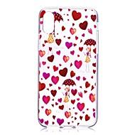 Кейс для Назначение Apple iPhone X iPhone 8 Прозрачный С узором Задняя крышка С сердцем Соблазнительная девушка Мягкий TPU для iPhone X