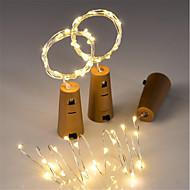 olcso -3db 15-vezetett 0,75m rézhuzal lámpa világítótest üveg palack üveg kézműves palack tündér Valentin-es esküvői dekoráció lámpa fél