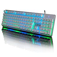ajazz machinist metalen achtergrondverlichting dunne film bedraad spel toetsenbord