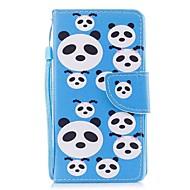baratos -caso para ipod touch5 / 6 estojo porta carteira carteira com stand flip pattern caso de corpo inteiro panda puzzles hard pu leather