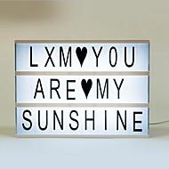 romantisk julegaver lightbox diy søt gratis kombinasjon kinematisk lys boks med 119 + 85 svart fargerike bokstaver