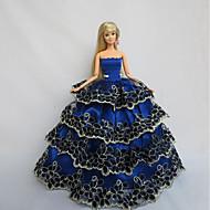 ために バービー人形 ロイヤルブルー ドレス ために 女の子の 人形玩具