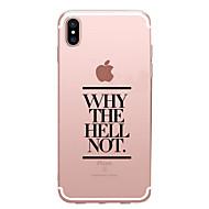 Недорогие Кейсы для iPhone 8 Plus-Кейс для Назначение Apple iPhone X iPhone 8 Прозрачный С узором Кейс на заднюю панель Слова / выражения Мягкий ТПУ для iPhone X iPhone 8