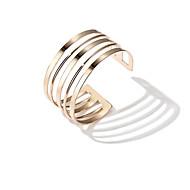 Damen Manschetten-Armbänder Europäisch Modisch Aleación Geometrische Form Schmuck Für Alltag Verabredung