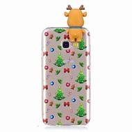 Недорогие Чехлы и кейсы для Galaxy A7(2017)-Кейс для Назначение SSamsung Galaxy A7(2017) A5(2017) Защита от удара Задняя крышка 3D в мультяшном стиле Рождество Мягкий TPU для A3