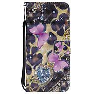 Кейс для Назначение SSamsung Galaxy S8 Plus S8 Кошелек Бумажник для карт со стендом Флип С узором Чехол Бабочка Твердый Искусственная кожа