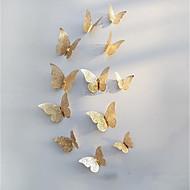 voordelige -3d vlinder muurstickers stickers decoraties goud uitgehold 12-delige butterflie