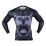 Arsuxeo 男性用 ランニングTシャツ 速乾性 低摩擦 ライトウェイト のために ヨガ ランニング ボクシング サイクリング エクササイズ&フィットネス フィットネス スパンデックス ポリエステル M L XL XXL
