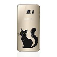 Недорогие Чехлы и кейсы для Galaxy S6 Edge Plus-Кейс для Назначение SSamsung Galaxy S8 Plus / S8 С узором Кейс на заднюю панель Кот Мягкий ТПУ для S8 Plus / S8 / S7 edge