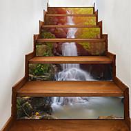 abordables Adhesivos Decorativos-Pegatinas de piso - Calcomanías 3D para Pared Paisaje / Floral / Botánico / 3D Sala de estar / Habitación de estudio / Oficina / Habitación de Niños