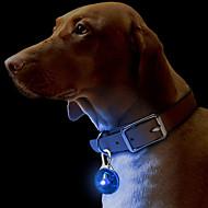billiga -Katter Hundar Taggar Vattentät LED Lampor Säkerhet Solid Röd Vit Grön Blå Rosa Gul Orange Plast
