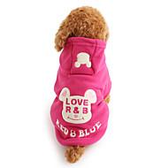 お買い得  -犬 パーカー 犬用ウェア カートゥン ブラック ローズ フリース コスチューム ペット用 男性用 女性用 キュート 保温