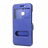 お買い得  携帯電話ケース-ケース 用途 Huawei Nova 2 Nova ウォレット スタンド付き ウィンドウ付き フリップ フルボディーケース 純色 ハード PUレザー のために Nova 2 Plus Nova 2 Nova Huawei